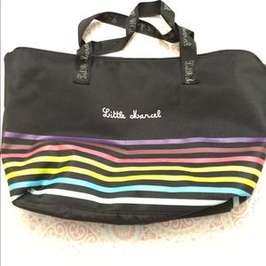 Little Marcel Women's Tote Black With Rainbow